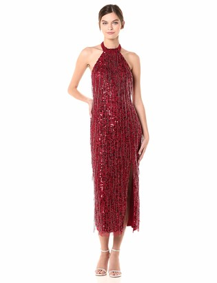 Adrianna Papell Women's Beaded Halter Ballet Dress