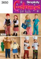 Simplicity Sewing Pattern 3650 Toddler Costumes