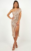 Showpo It aint me but you Midi Dress in Rose Gold - 6 (XS) Wedding