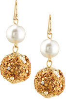 Fragments for Neiman Marcus Bead & Simulated Pearl Drop Earrings, Golden