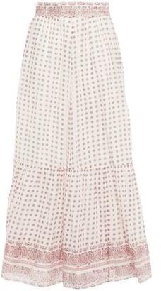 Vanessa Bruno Luciole Gathered Printed Cotton-voile Maxi Skirt