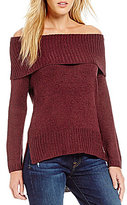 RD Style Off-the-Shoulder Tunic Sweater