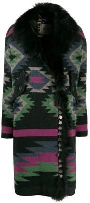 Bazar Deluxe Aztec wrap coat