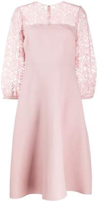 Valentino Floral Lace Detailed Dress