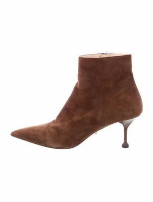 Prada Suede Boots Brown