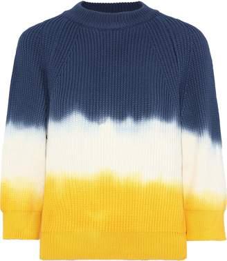Sonia Rykiel Tie-dyed Cotton-blend Sweater