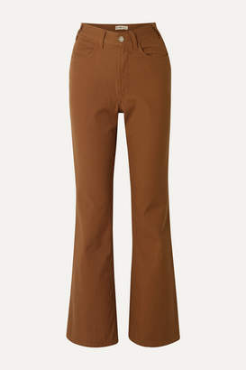 RE/DONE 70s High-rise Flared Jeans - Tan