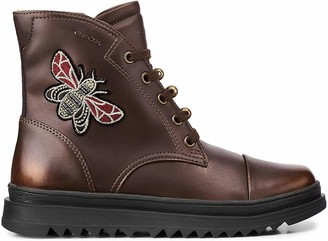 Geox Girls' J Gillyjaw A Combat Boots
