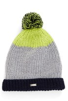 Armani Junior Boy's Stripe Knit Beanie - Blue