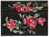 Dolce & Gabbana Floral Printed Leather Card Holder