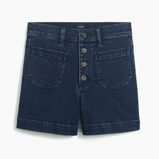 J.Crew Button-fly denim short with patch pockets