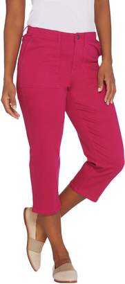 Susan Graver Regular Stretch Twill Capris Jeans