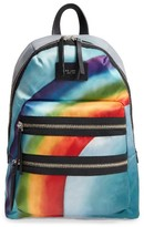 Marc Jacobs Biker Rainbow Print Backpack - Grey