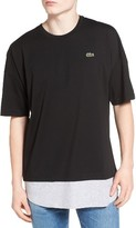 Lacoste Men's L!ve Mock Layer T-Shirt