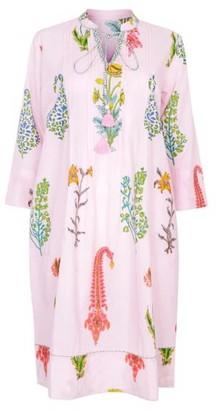 Nologo Chic Botanical Tunic Dress - Pure Cotton - Dusky Pink