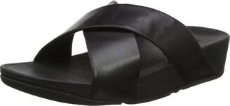 FitFlop Women's Lulu Cross Slide Sandals - Leather Open Toe