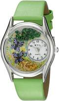 Whimsical Watches Women's S1210001 Butterflies Green Leather Watch
