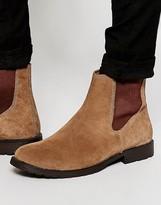 Jack & Jones Suede Chelsea Boots - Brown