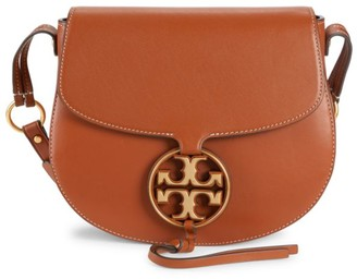 Tory Burch Miller Metal Leather Saddle Bag