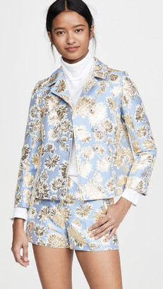No.21 Metallic Floral Jacket