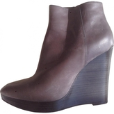 MICHAEL Michael Kors Grey Leather Ankle boots