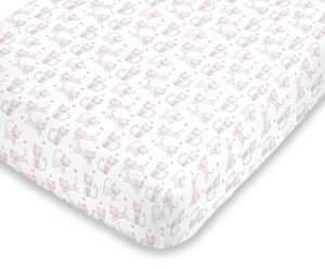 NoJo Kitty Cat Fitted Mini Crib Sheet Bedding