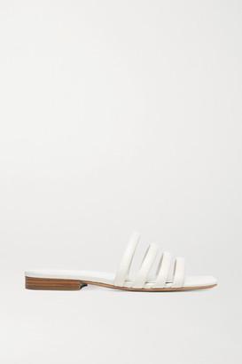Vince Zahara Leather Slides - White