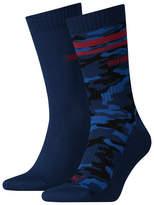 Men's Camo Stripe Crew Socks 2 Pack