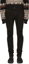 Christian Dada Black Knee Damaged Signature Skinny Jeans