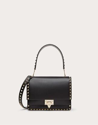 Valentino Rockstud Smooth Calfskin Crossbody Bag Women Black OneSize