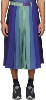 Keenkee Purple Gradient Pleated Shorts