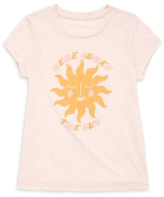 Tiny Whales Little Girl's & Girl's Permanent Vacation Here Comes The Sun Tee