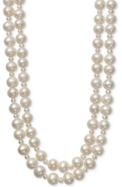 """Belle de Mer Cultured Freshwater Pearl (4mm, 9-1/2mm) Two Layer 17""""/18"""" Collar Necklace"""