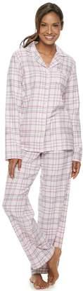Croft & Barrow Petite Long Sleeve Flannel Pajama Set