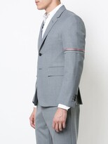 ... Single Breasted Sport Coat With Red, White And Blue Selevedge In Medium  Grey. <. > All / Men / Clothing / Sport Jackets / Thom Browne Sport Jackets
