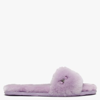 UGG Fluff Slide Lilac Bloom Sheepskin Slippers