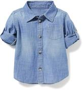 Old Navy Chambray Roll-Up Sleeve Shirt for Baby