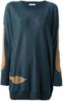 Tsumori Chisato embellished colour block sweater