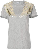 RED Valentino embroidered T-shirt - women - Cotton/Polyamide - XS