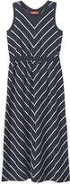 Joe Fresh Kid Girls' Chevron Stripe Maxi Dress, JF Midnight Blue (Size S)