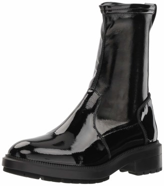 Aquatalia Women's LEODA Patent/Stretch PAT Ankle Boot