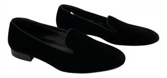 Saint Laurent Black Velvet Flats