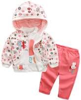 YOA Baby Girls Clothing Set 3 Pieces Sets T Shirt Jacket Pants