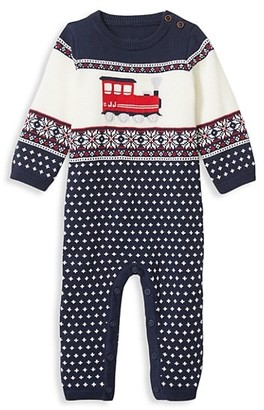 Janie and Jack Baby Boy's Train Knit Coverall