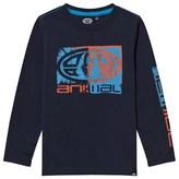 Animal Navy Board Logo Long Sleeve Tee