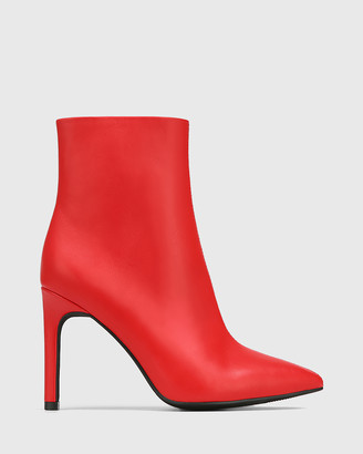 Wittner - Women's Red Ankle Boots - Havina Leather Pointed Toe Ankle Boots - Size One Size, 37 at The Iconic