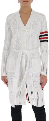 Thom Browne Four Bar Knitted Cardigan