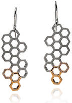 Gia Belloni Honeycomb Drop Earrings