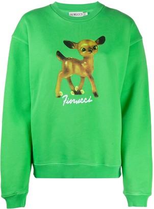 Fiorucci Deer print cotton sweatshirt