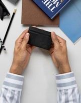 BOSS ORANGE by Hugo Boss Leather Future Card Holder Black